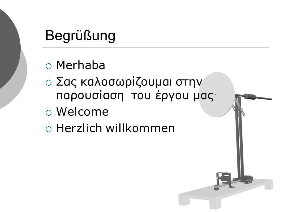 Begrüßung Merhaba Σας καλοσωρίζουμαι στην παρουσίαση του έργου μας Welcome Herzlich willkommen