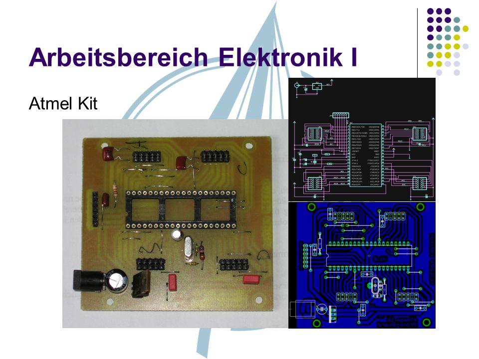 Arbeitsbereich Elektronik I Atmel Kit