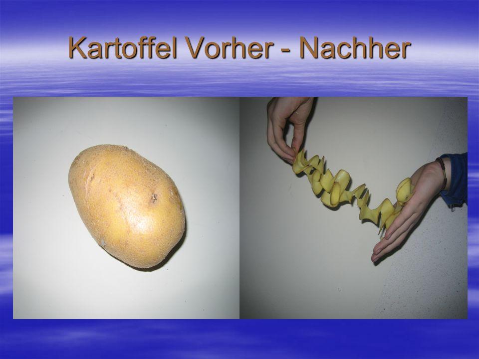 Kartoffel Vorher - Nachher
