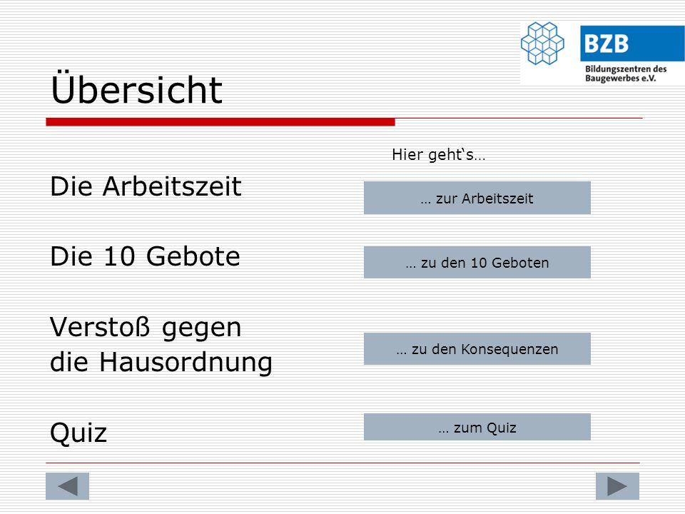 Die Zehn Gebote der BZB Das achte Gebot: Verhalten bei Unfällen und Verletzungen.