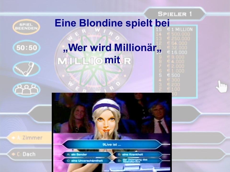 blondine spielt mit alien.