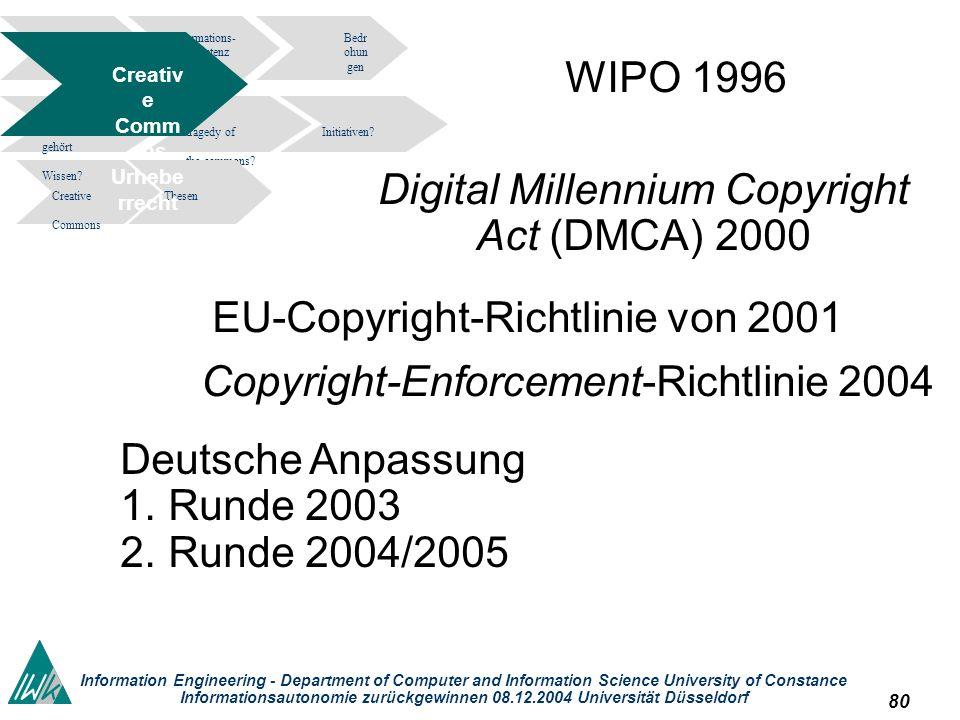 80 Information Engineering - Department of Computer and Information Science University of Constance Informationsautonomie zurückgewinnen 08.12.2004 Un