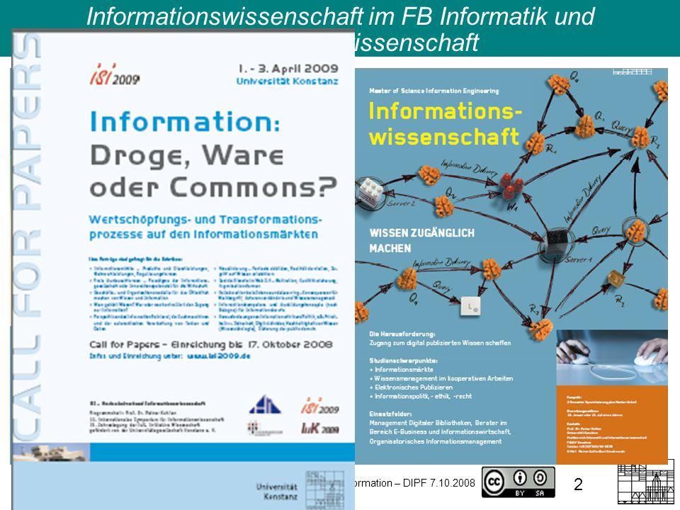 2 Informationswissenschaft im FB Informatik und Informationswissenschaft