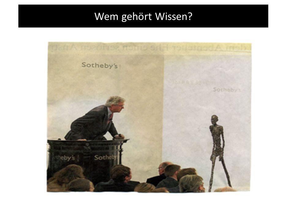 Wem gehört Wissen? Tragedy of the Commons ?