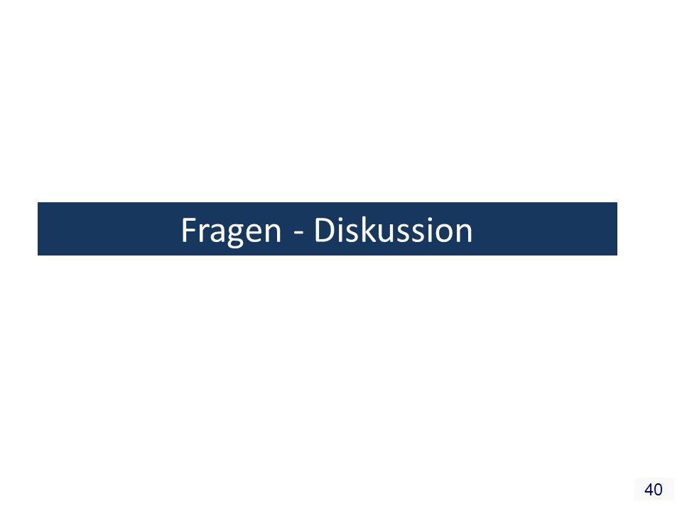 40 Fragen - Diskussion