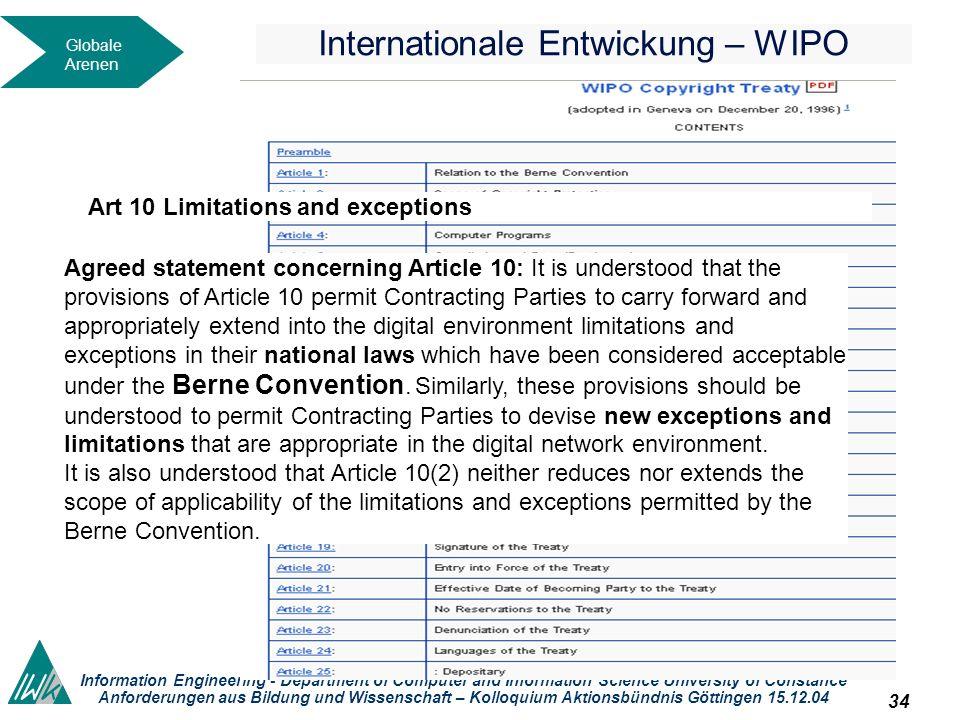 33 Dieses okument wird unter folgender Creative-Commons-Lizenz veröffentlicht: http://creativecommons.org/licenses/by-nc-sa/2.0/de// Information Engin