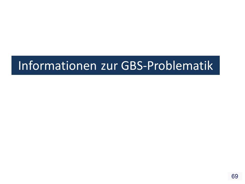 69 Informationen zur GBS-Problematik