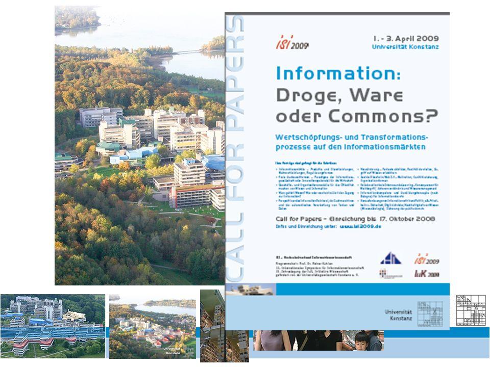 Schrankensystematik und Digitalisierung – Symposium Kinemathek 11/12.9.2008 3 Informationswissenschaft im FB Informatik und Informationswissenschaft