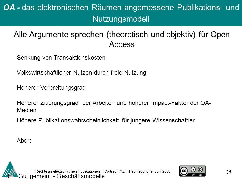 31 Rechte an elektronischen Publikationen – Vortrag FAZIT-Fachtagung 9.