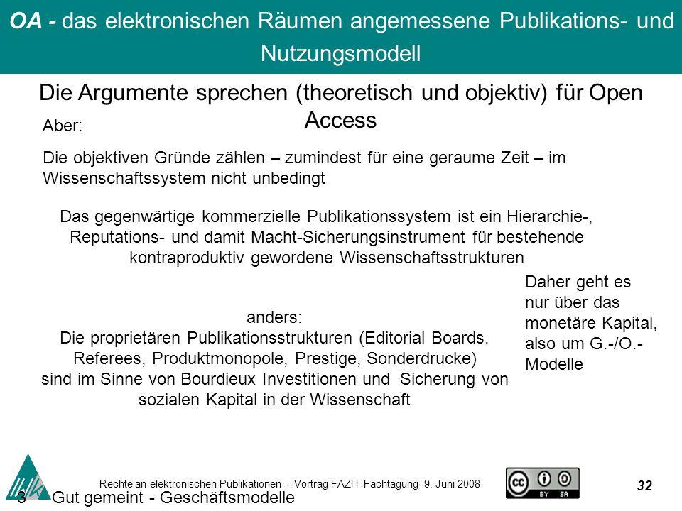 32 Rechte an elektronischen Publikationen – Vortrag FAZIT-Fachtagung 9.