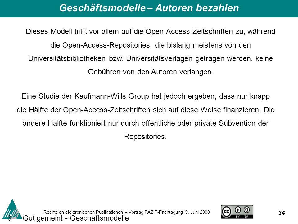 34 Rechte an elektronischen Publikationen – Vortrag FAZIT-Fachtagung 9.