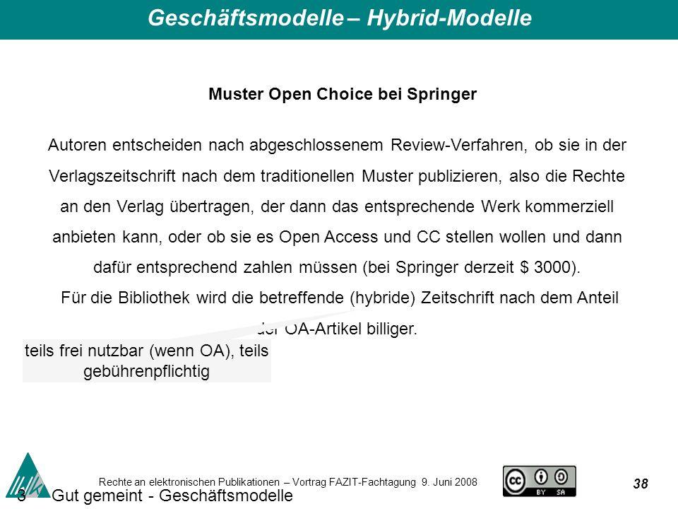 38 Rechte an elektronischen Publikationen – Vortrag FAZIT-Fachtagung 9.