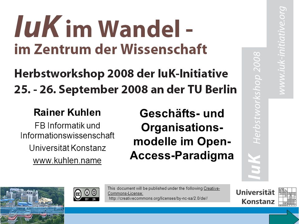 35 Rechte an elektronischen Publikationen – Vortrag FAZIT-Fachtagung 9.