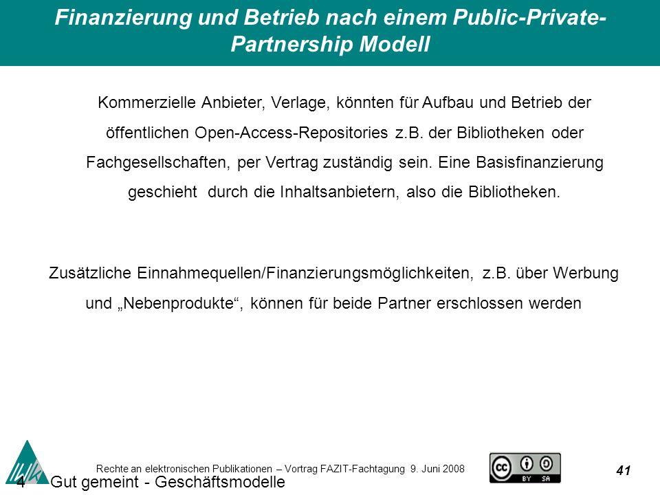 41 Rechte an elektronischen Publikationen – Vortrag FAZIT-Fachtagung 9.