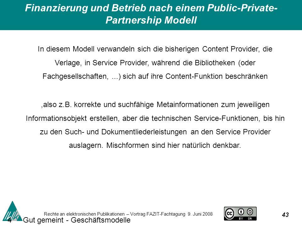 43 Rechte an elektronischen Publikationen – Vortrag FAZIT-Fachtagung 9.