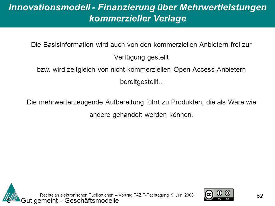 52 Rechte an elektronischen Publikationen – Vortrag FAZIT-Fachtagung 9.