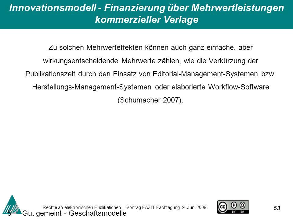 53 Rechte an elektronischen Publikationen – Vortrag FAZIT-Fachtagung 9.