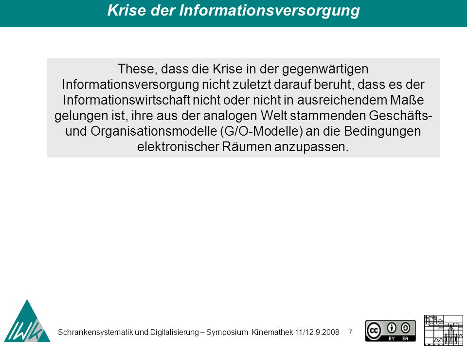 Schrankensystematik und Digitalisierung – Symposium Kinemathek 11/12.9.2008 18 e) die Einsparungen durch Reduktion der Transaktionskosten wurden entweder nicht realisiert oder nicht an die Kunden weitergegeben.