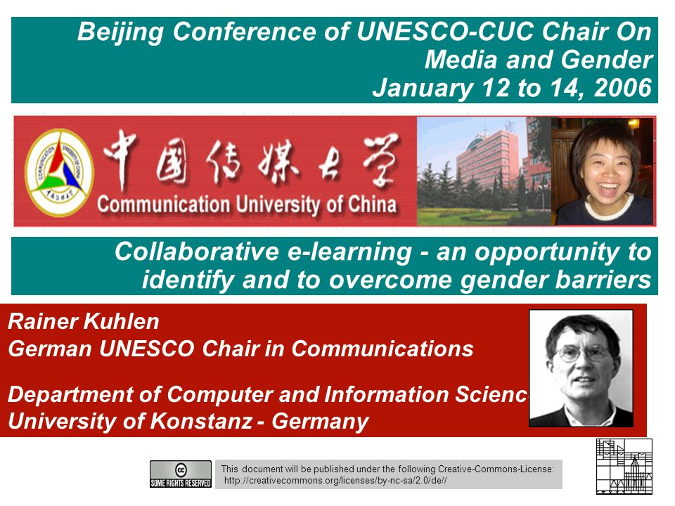 53 Information Engineering - Department of Computer and Information Science University of Constance E-Learning and Gender – Beijing 13.01.2006 Ergebnis Rollen