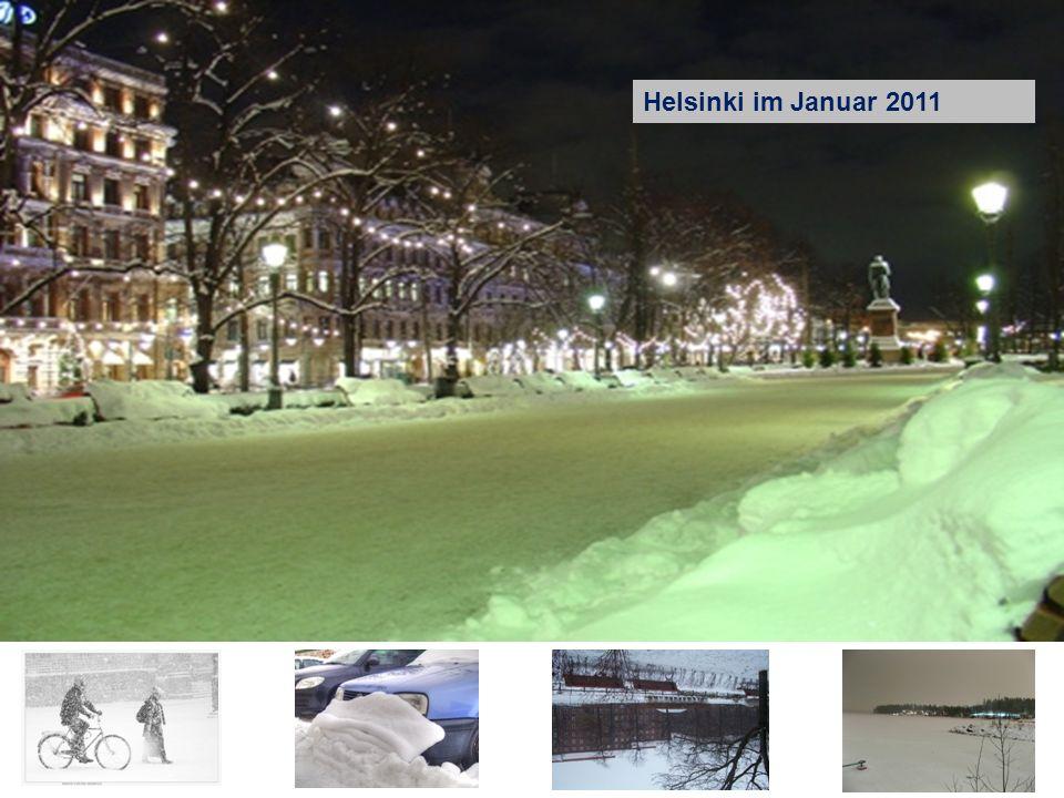 Helsinki im Januar 2011