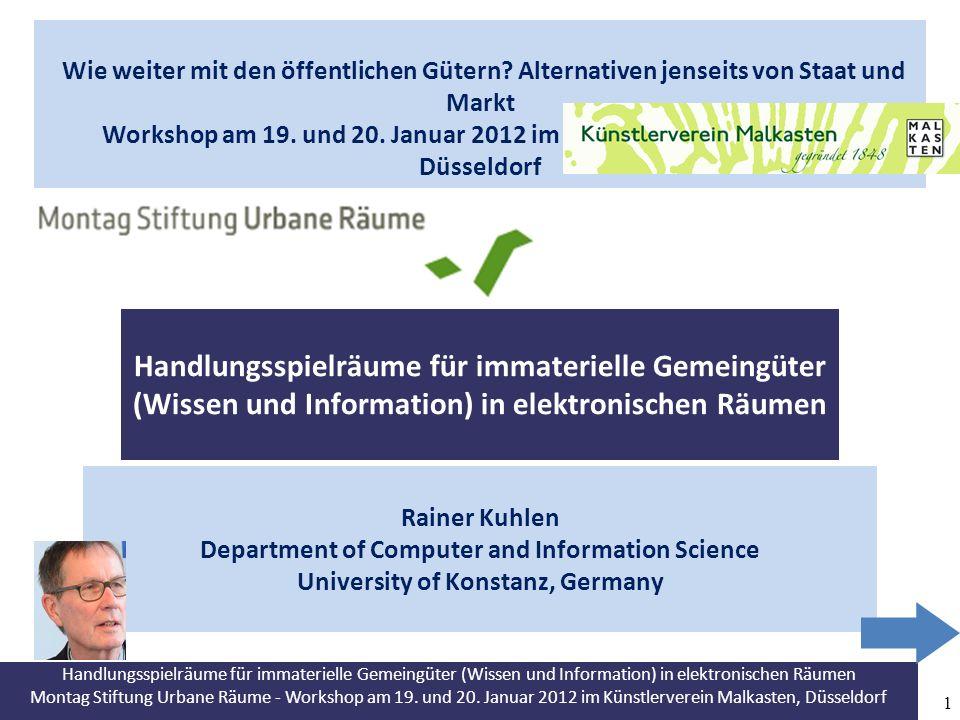 Montag Stiftung Urbane Räume - Workshop am 19.und 20.