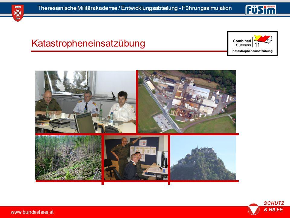 Katastropheneinsatzübung www.bundesheer.at SCHUTZ & HILFE Theresianische Militärakademie / Entwicklungsabteilung - Führungssimulation