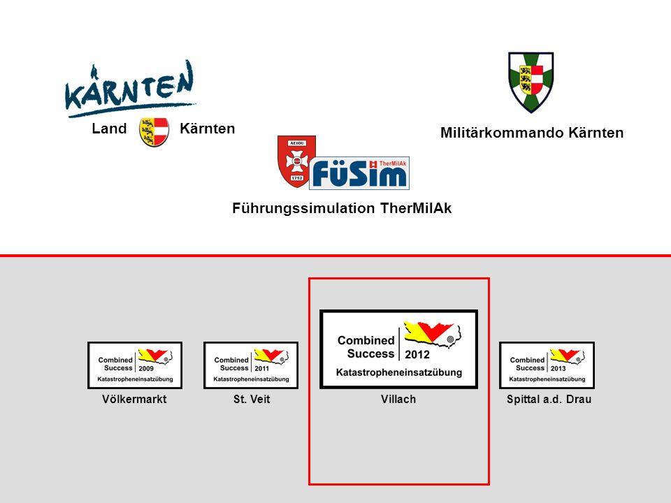 Führungssimulation TherMilAk St. VeitVölkermarktVillachSpittal a.d. Drau Land Kärnten Militärkommando Kärnten