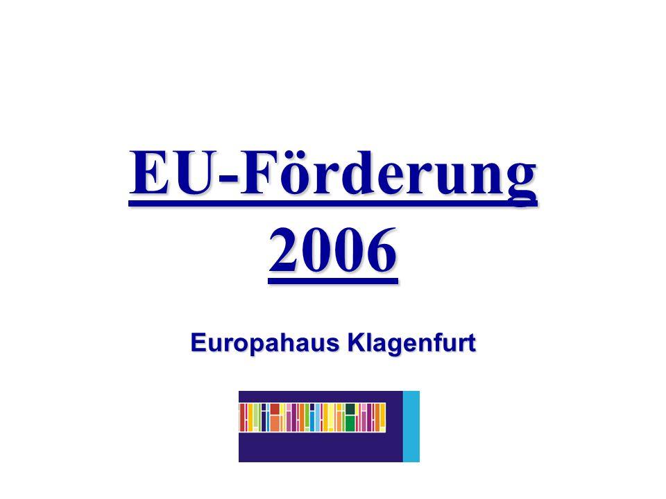 EU-Förderung 2006 Europahaus Klagenfurt
