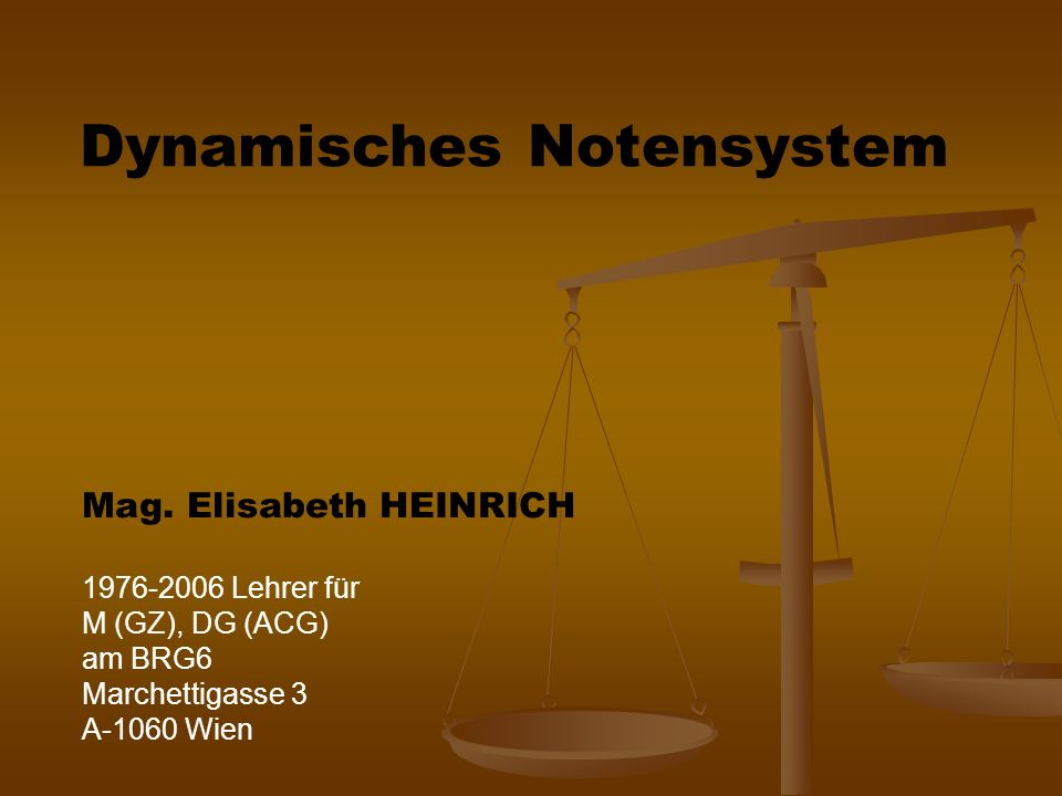 Dynamisches Notensystem Mag.
