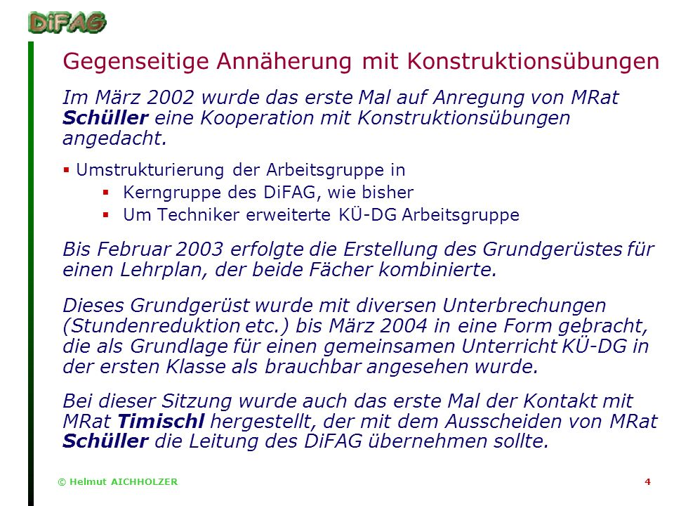 © Helmut AICHHOLZER5 Der Anfang vom Ende?.