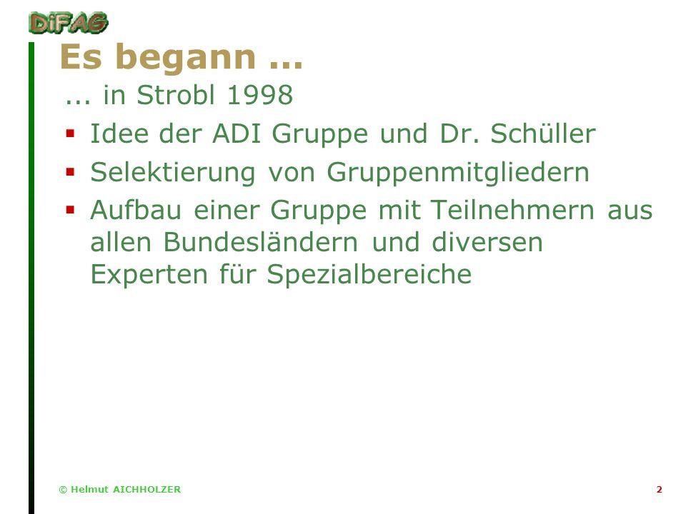 2 Es begann...... in Strobl 1998 Idee der ADI Gruppe und Dr.