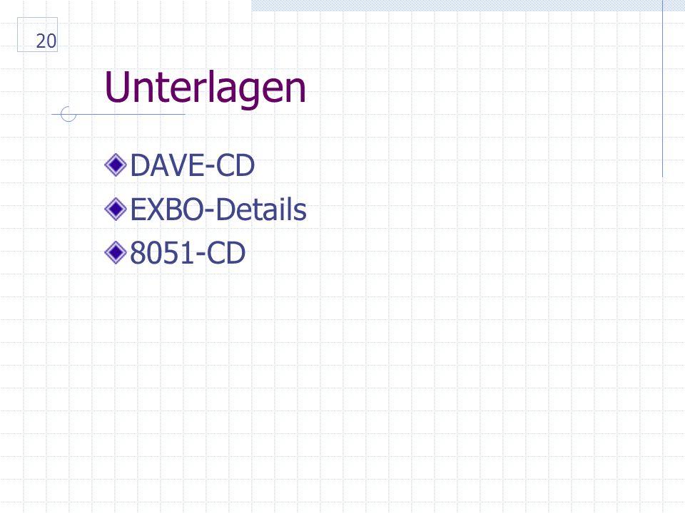 20 Unterlagen DAVE-CD EXBO-Details 8051-CD