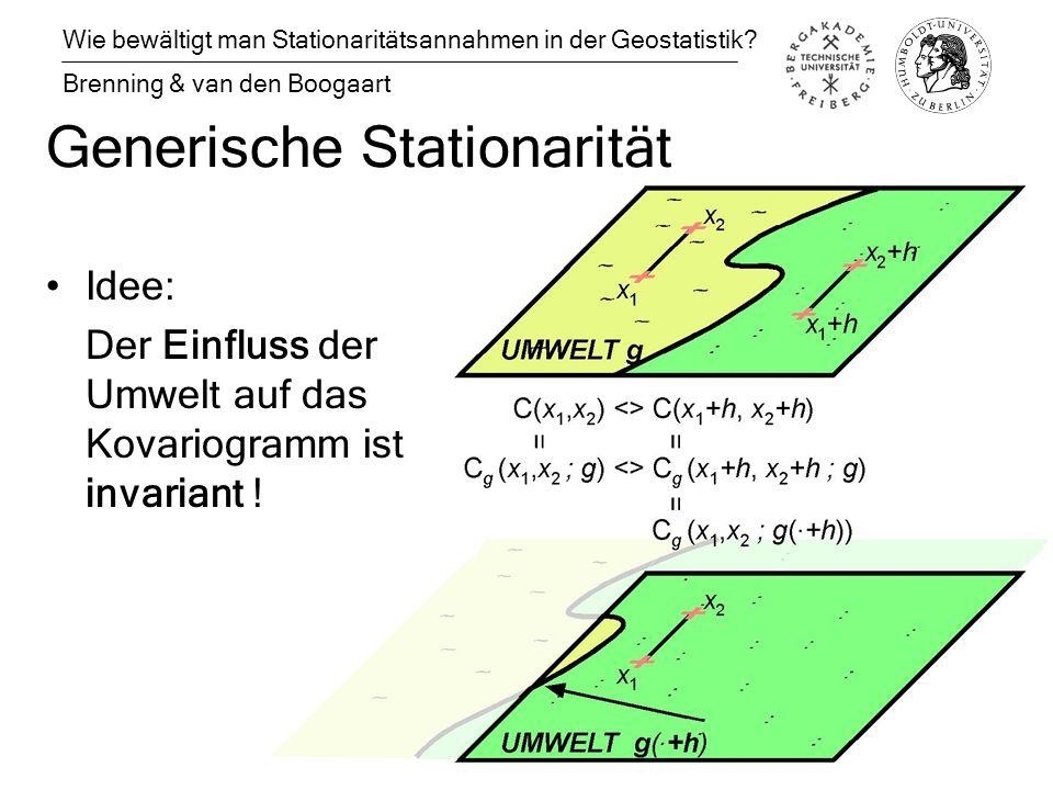 Generische Stationarität Wie bewältigt man Stationaritätsannahmen in der Geostatistik.