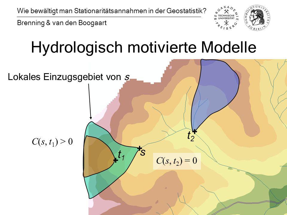 Hydrologisch motivierte Modelle Wie bewältigt man Stationaritätsannahmen in der Geostatistik.