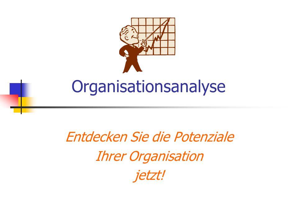 Organisationsanalyse Entdecken Sie die Potenziale Ihrer Organisation jetzt!