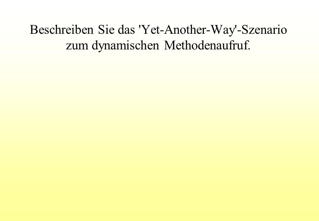 Beschreiben Sie das Yet-Another-Way -Szenario zum dynamischen Methodenaufruf.