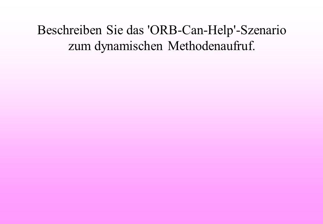 Beschreiben Sie das ORB-Can-Help -Szenario zum dynamischen Methodenaufruf.