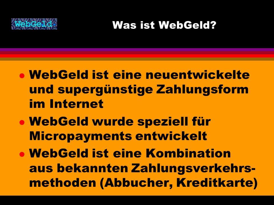 Was ist WebGeld.