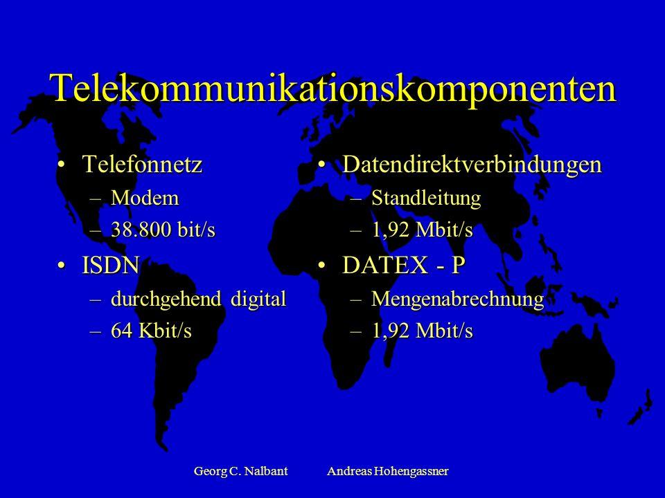Georg C. NalbantAndreas Hohengassner Übertragungsarten Punkt zu Punkt ÜbertragungPunkt zu Punkt Übertragung –Direkte Verbindung zum Geschäftspartner –