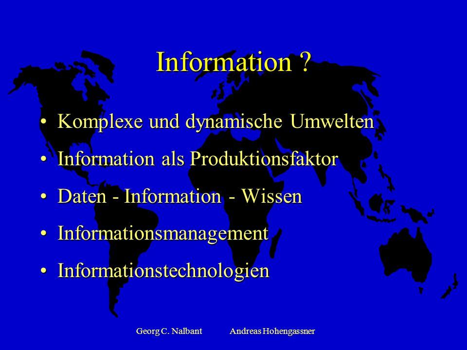 Georg C.NalbantAndreas Hohengassner Information .