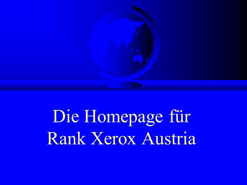 Die Homepage für Rank Xerox Austria