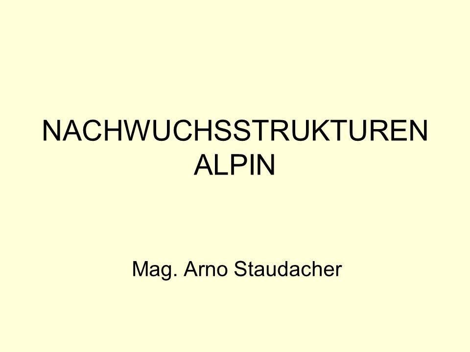 NACHWUCHSSTRUKTUREN ALPIN Mag. Arno Staudacher