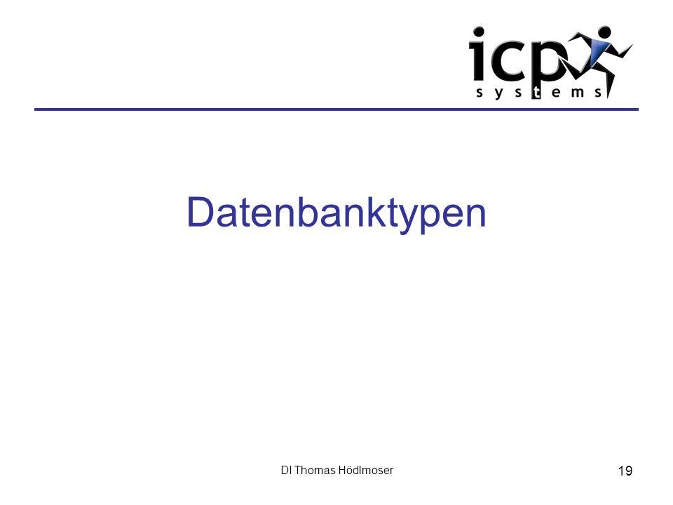 DI Thomas Hödlmoser 19 Datenbanktypen