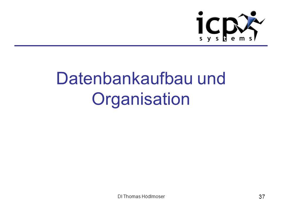 DI Thomas Hödlmoser 37 Datenbankaufbau und Organisation