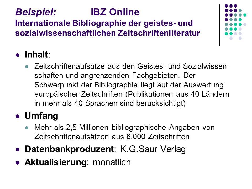 Datenbanken an der UB Salzburg DBIS – Datenbank-Infosystem Alphabetische / Sachgebietssuche / Schnelle Suche Literatur- und Faktendatenbanken Datenban