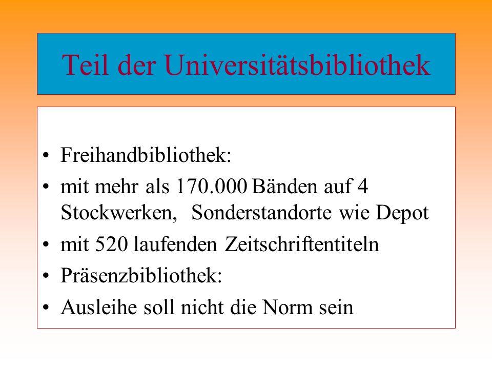 Signaturenbeispiele Geschichte 502- E223:4-1 Kultursoziologie 503- 43RAM Kommunikationswiss.