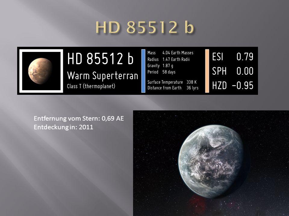 Entfernung vom Stern: 0,69 AE Entdeckung in: 2011
