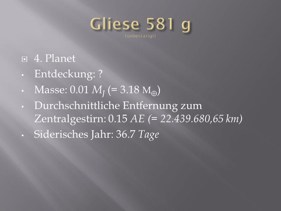4.Planet Entdeckung: .