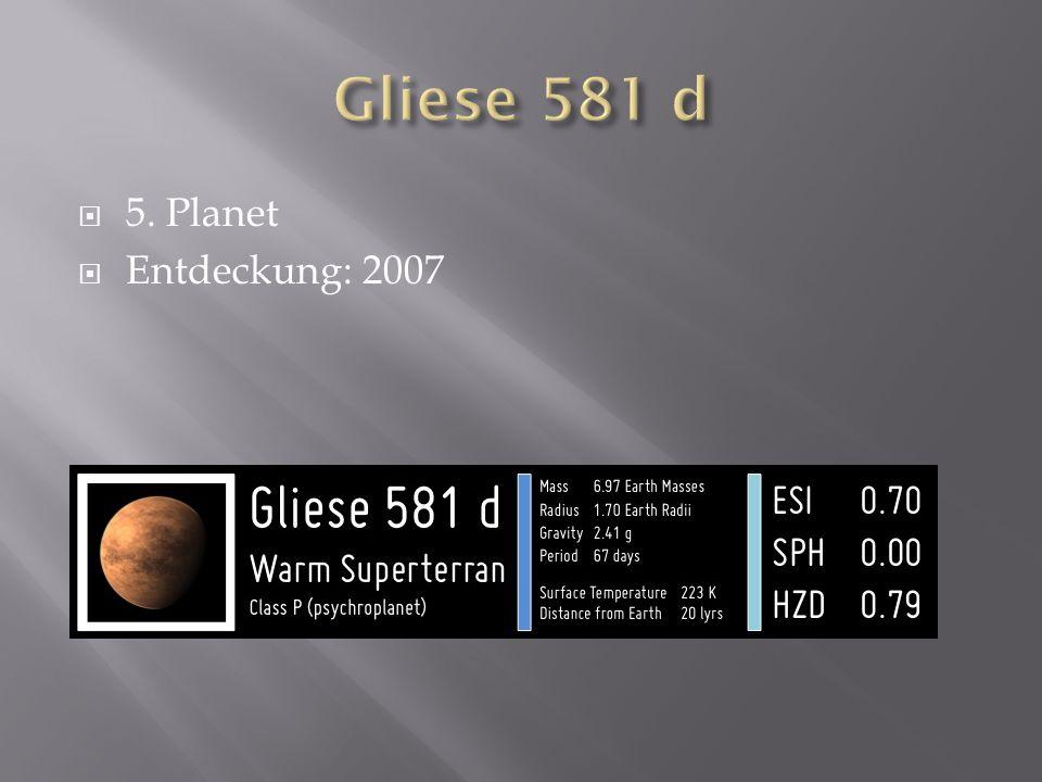 5. Planet Entdeckung: 2007