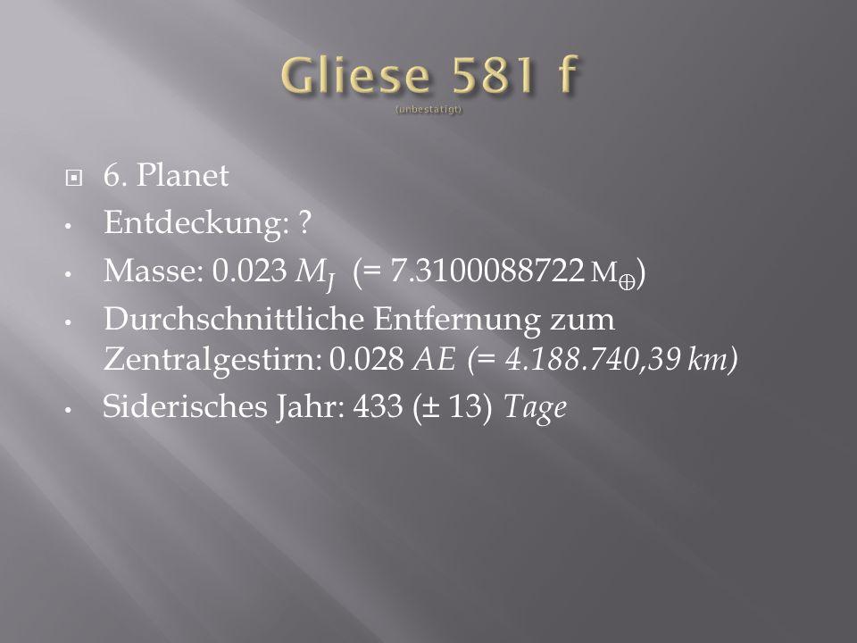 6.Planet Entdeckung: .